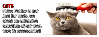 Everything for your cat is at Fidos Pantry